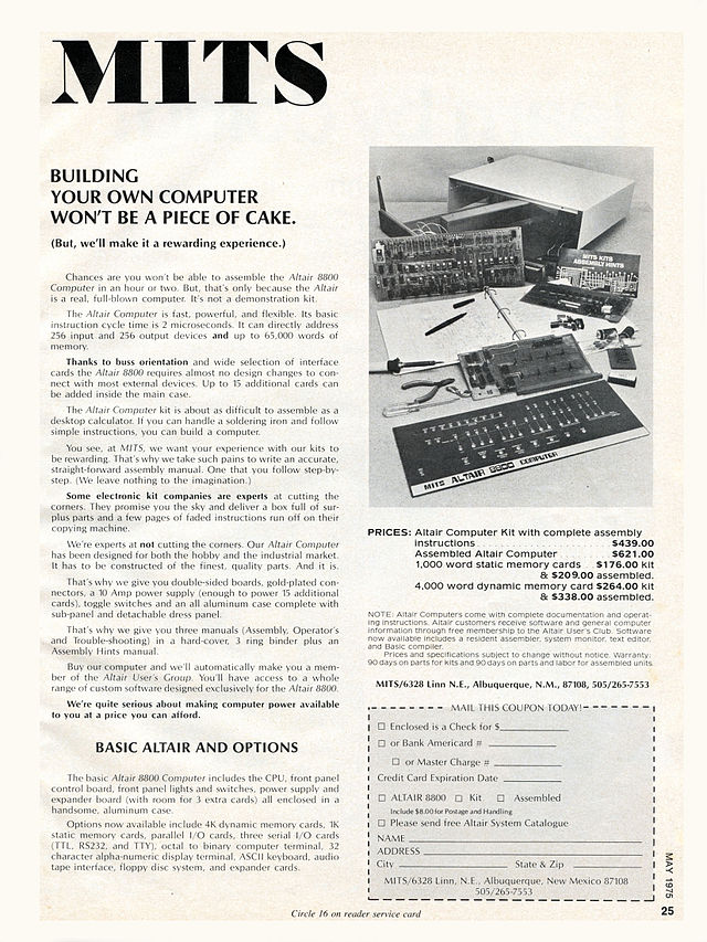1975-1980 : Altair, Basic et CP/M, standards du 8 bits